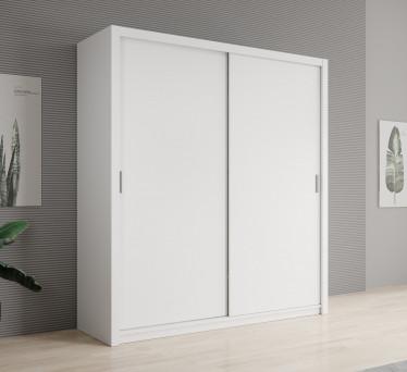Kledingkast Blake - Wit - 200 cm - zonder spiegel