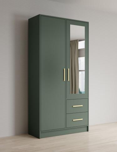 Kledingkast Brody - Groen - 103 cm