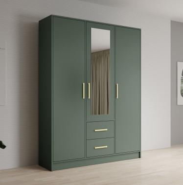 Kledingkast Brody - Groen - 153 cm