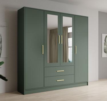 Kledingkast Brody - Groen - 201 cm