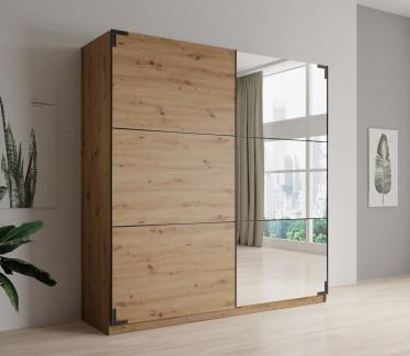 Kledingkast Lapis - Eiken - 217 cm