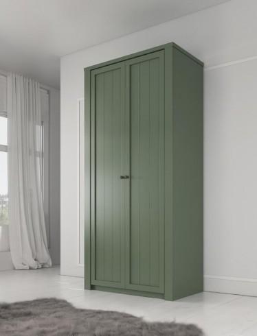 Kledingkast Parello - Groen - 90 cm