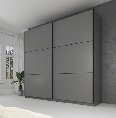 Kledingkast Samantha - Grijs - 217 cm - zonder spiegel