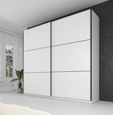 Kledingkast Samantha - Wit - 217 cm - zonder spiegel