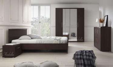 Slaapkamer Malibu 160 - Wenge - Groot