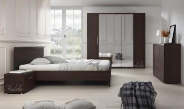 Slaapkamer Malibu 160 - Wenge - Groot 2
