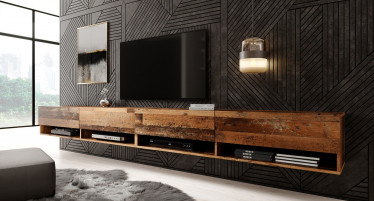 TV-Meubel Asino - Old wood - 280 cm