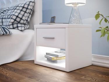 Nachtkastje Albany - LED - Wit
