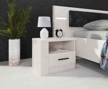 Nachtkastje Alpen - Wit eiken - Set van 2