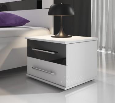Nachtkastje Dual  - Wit - Zwart - Set van 2