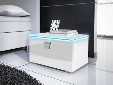 Nachtkastje Rivalo - Wit - Met LED - Set van 2