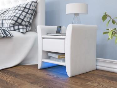 Nachtkastje Willow - LED - Wit - Set van 2