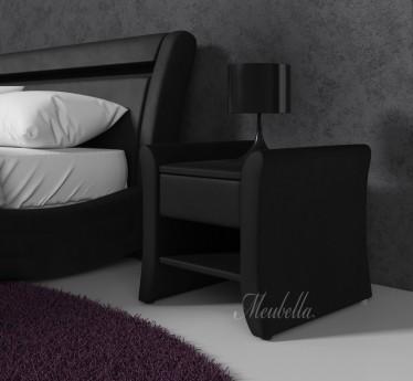 Nachtkastje Willow - Zwart - Set van 2