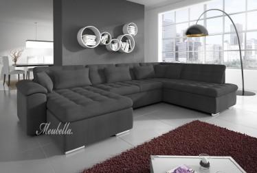 Hoekbank Nicoreta - Grijs - Links - Stof - Showroommodel
