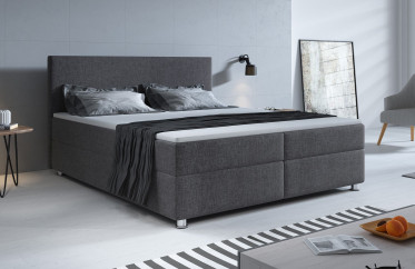 Boxspring Paolo - Grijs - 180x200 cm - Compleet