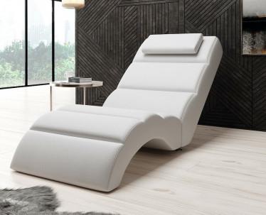 Chaise longue Rovila - Wit - ACTIE