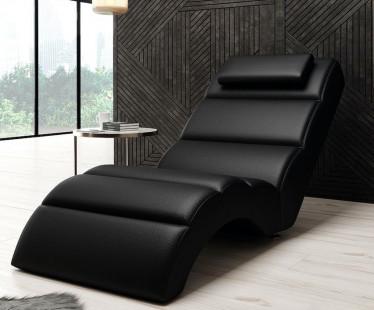 Chaise longue Rovila - Zwart - ACTIE