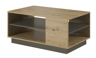 Salontafel Ashley - Eiken - Grijs - 100 cm