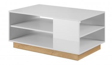 Salontafel Ashley - Wit - Eiken - 100 cm