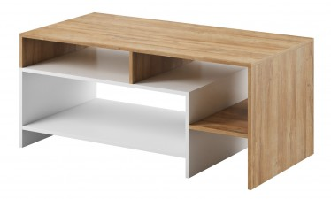 Salontafel Axion - Eiken - Wit - 120 cm