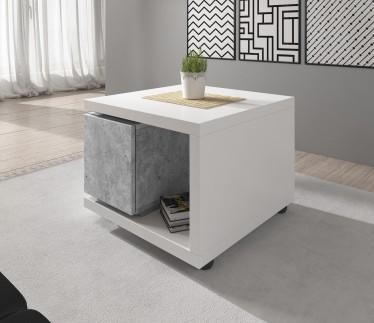 Salontafel Bello - Beton - Wit - 70 cm