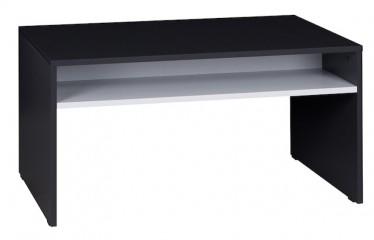 Salontafel Ivano - Grijs - Wit - 90 cm