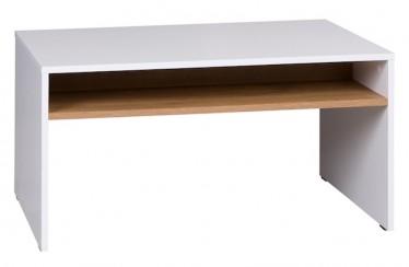 Salontafel Ivano - Wit - Eiken - 90 cm