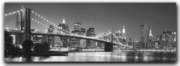 Schilderij Bridge black/white 45x140