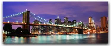 Schilderij Bridge Violet 60x150
