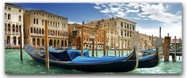 Schilderij Canvas Gondola 60x150 - ACTIE