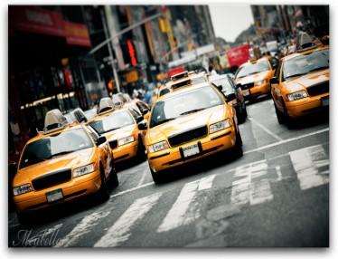 Schilderij Yellow Taxi 1 - ACTIE