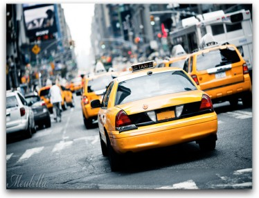 Schilderij Yellow Taxi 2 - ACTIE