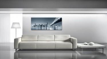 Schilderij Bridge black/white 50x125 - ACTIE