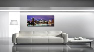 Schilderij Bridge Violet Glass 50x125