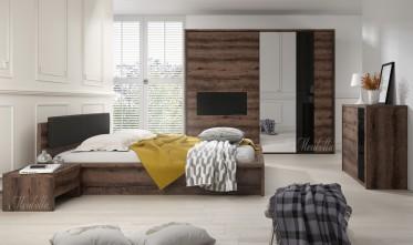Slaapkamer Indigo 180 - Eiken - Zwart - Groot