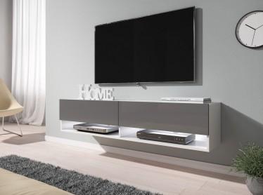 TV-Meubel Asino LED - Grijs - Wit - 140 cm