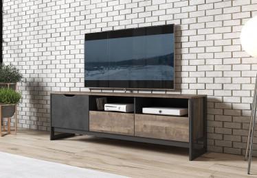 TV-Meubel Acasia - Grijs - Eiken - 161 cm