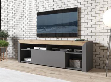 TV-Meubel Adalyn - Grijs - Eiken - 180 cm