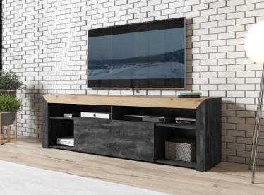 TV-Meubel Adalyn - Zwart - Eiken - 180 cm