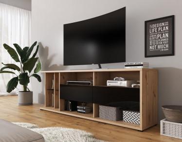 TV-Meubel Almira - Zwart - Eiken - 187,5 cm - ACTIE