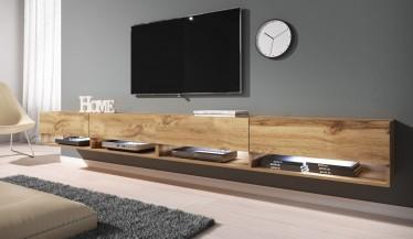 TV-Meubel Asino LED - Eiken - 280 cm