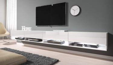 TV-Meubel Asino LED - Wit - 280 cm