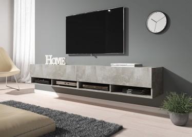 TV-Meubel Asino - Betonlook - 200 cm