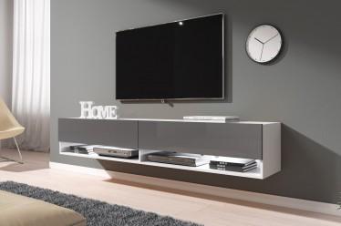 TV-Meubel Asino LED - Grijs - Wit - 180 cm - ACTIE