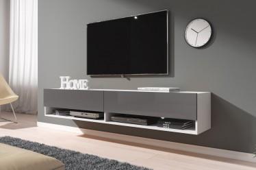 TV-Meubel Asino - Grijs - Wit - 180 cm
