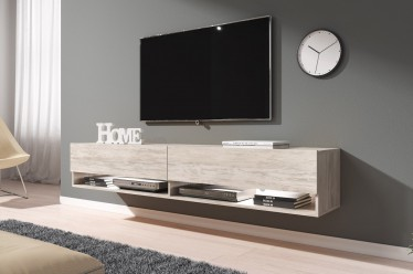 TV-Meubel Asino LED - Wit eiken - 180 cm - ACTIE