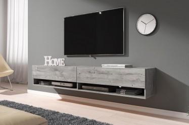 TV-Meubel Asino - Grijs eiken - 180 cm - ACTIE