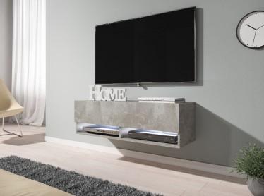 TV-Meubel Asino LED - Betonlook - 100 cm - ACTIE