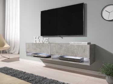 TV-Meubel Asino LED - Betonlook - 140 cm - ACTIE