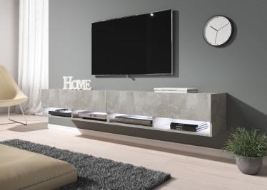 TV-Meubel Asino LED - Betonlook - 200 cm - ACTIE